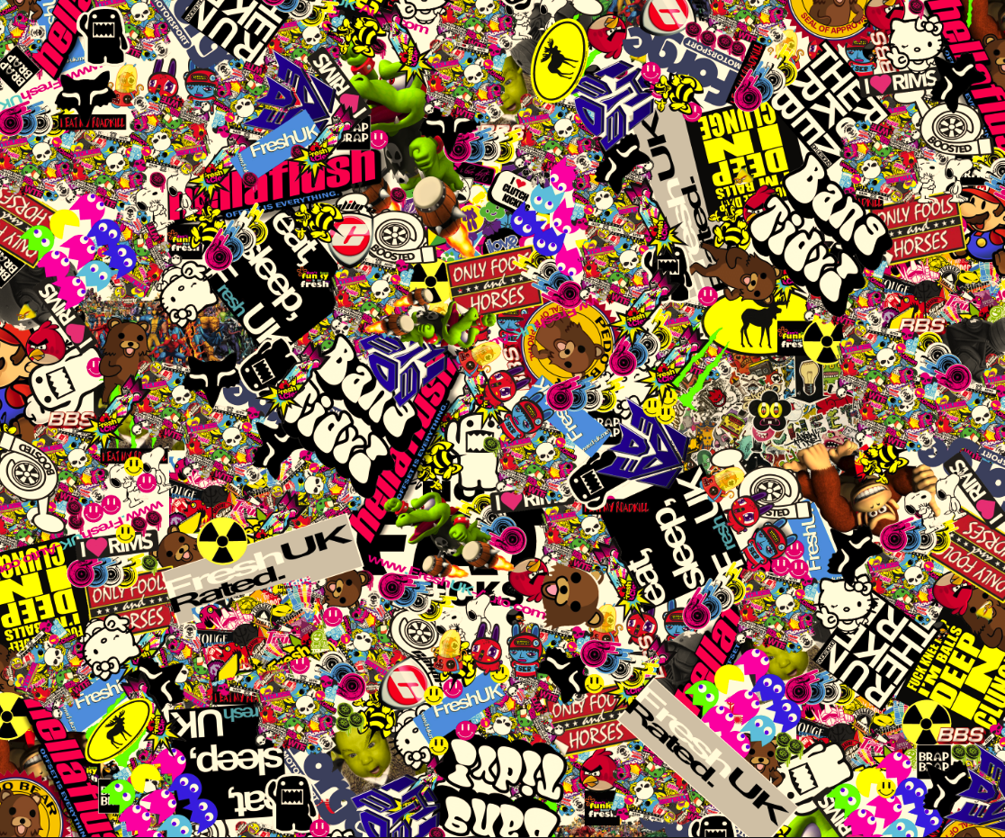 Sticker Bomb HD Wallpaper - WallpaperSafari