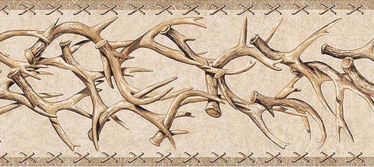 Details About WESTERN DEER ANTLERS Wallpaper Border TA39016B 770x345