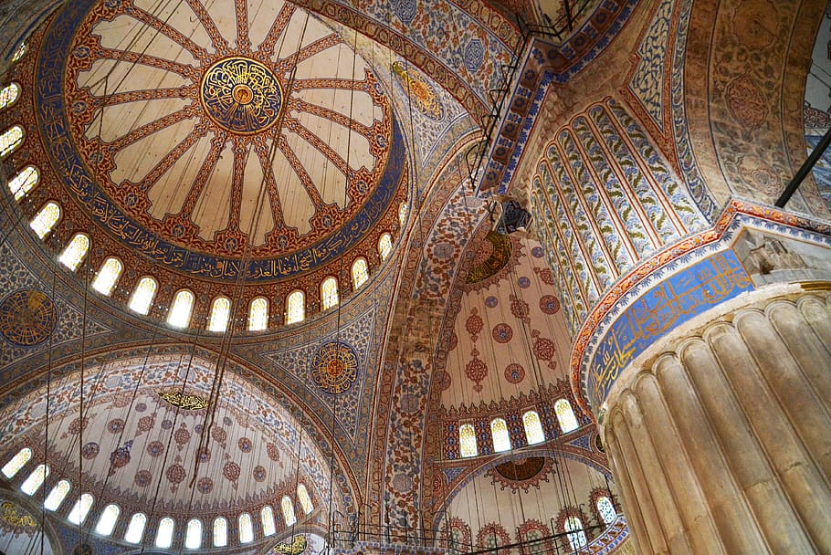HD wallpaper Islam Blue Mosque Istanbul architecture orient 910x608