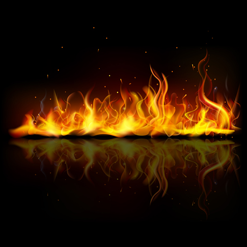 Vector Fire Backgrounds 02   Vector Background download 500x500