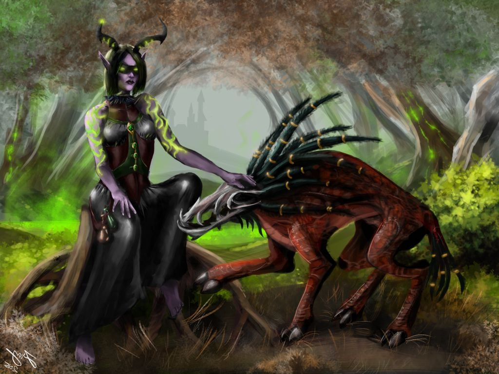 Free Download Wallpaper Demon Hunter World Of Warcraft Legion Hd
