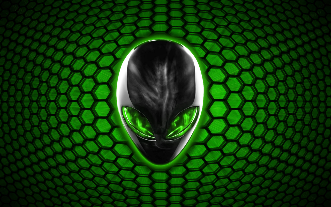 Green Alien Wallpaper Alienware bee green by 1280x800