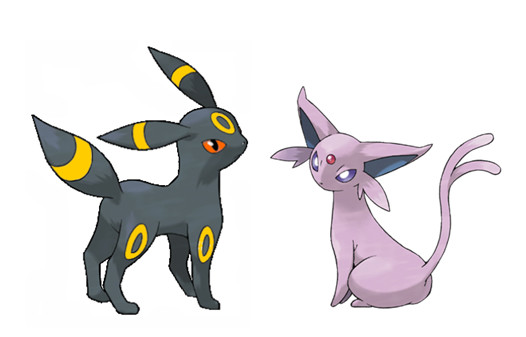 Umbreon and Espeon by sonamyfire 526x337