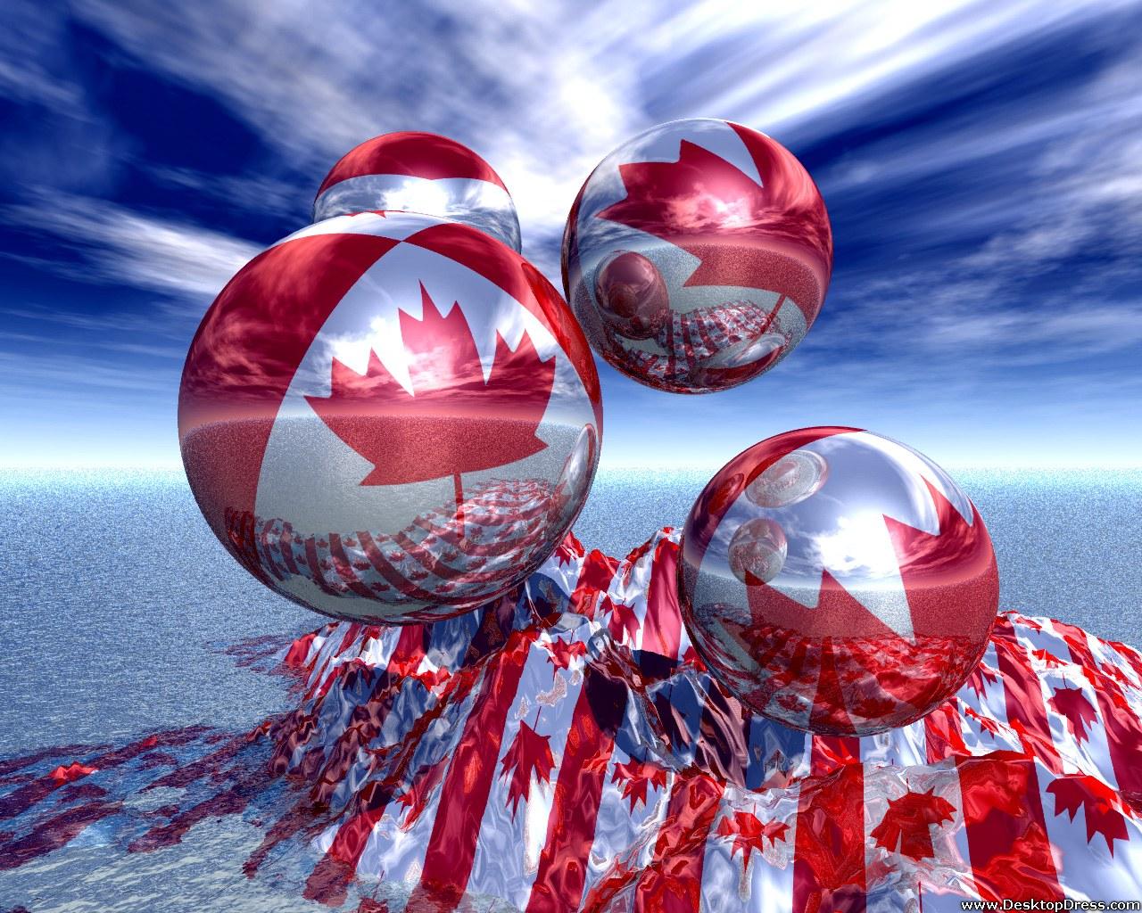 Desktop Wallpapers 3D Backgrounds Oh Canada wwwdesktopdress 1280x1024