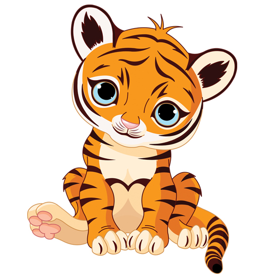 NURSERY STICKERS   NS41   Cute cartoon tiger wall decal Kids nursery 550x550