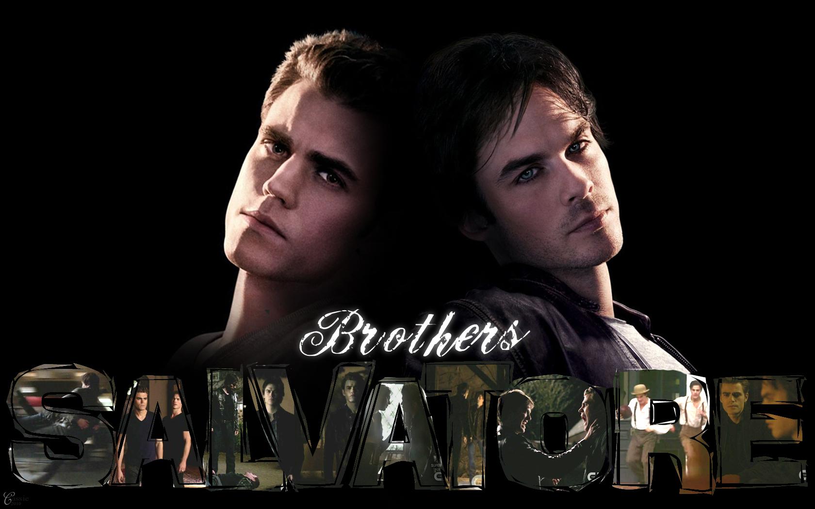 Damon Stefan   The Vampire Diaries TV Show Wallpaper 17122897 1680x1050