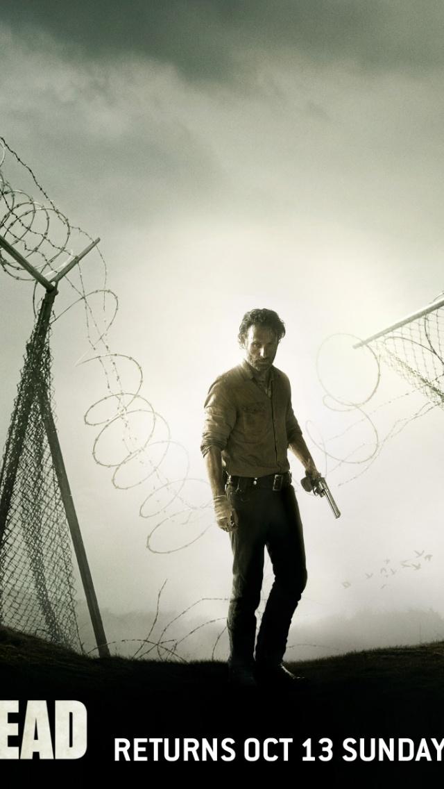 640x1136 The Walking Dead Season 4 Iphone 5 wallpaper 640x1136