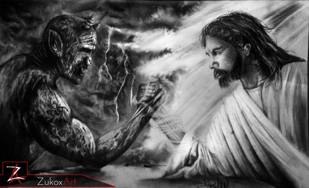God vs Devil Wallpaper - WallpaperSafari