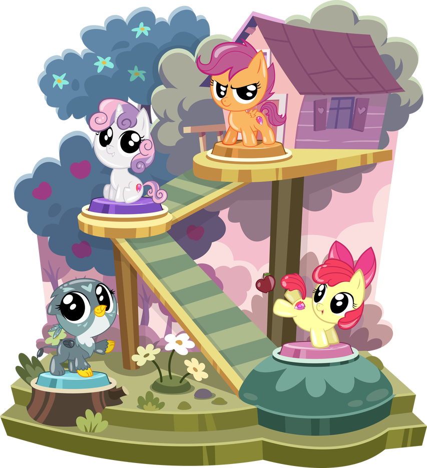 Pocket Ponies in their display doohickey   CMC by PhucknuckL My 853x936