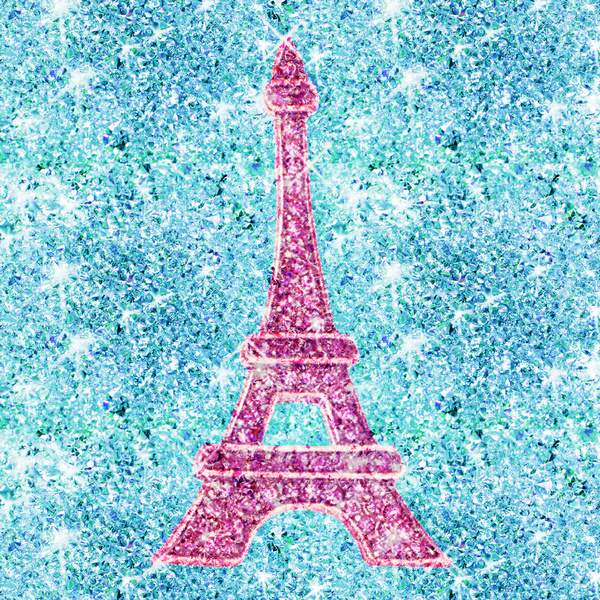 Cute Eiffel Tower Wallpapers Bling Me Girly Pink Teal Blue Glitter Photo Print Art 600x600