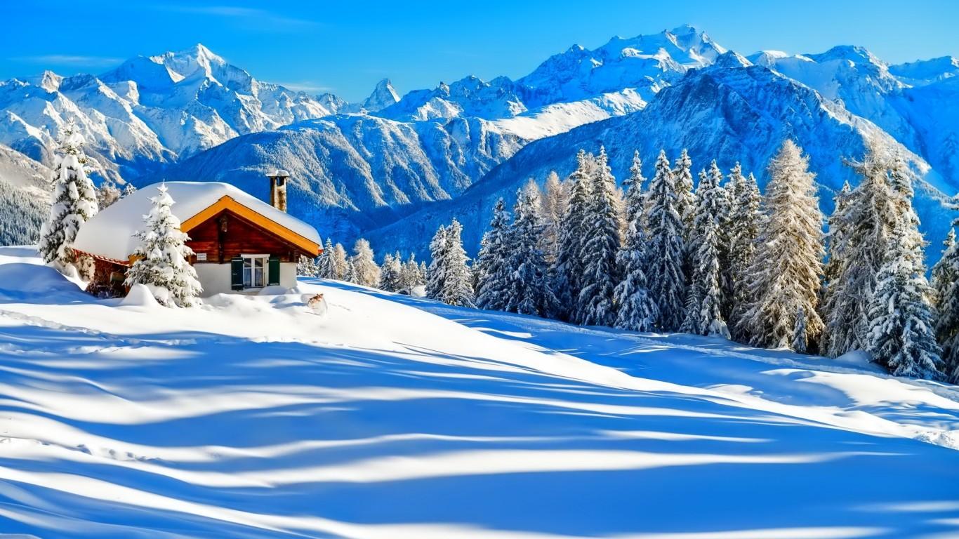 par zezete2 Tags hiver snow paysage winter wallpapers fond d ecran 1366x768