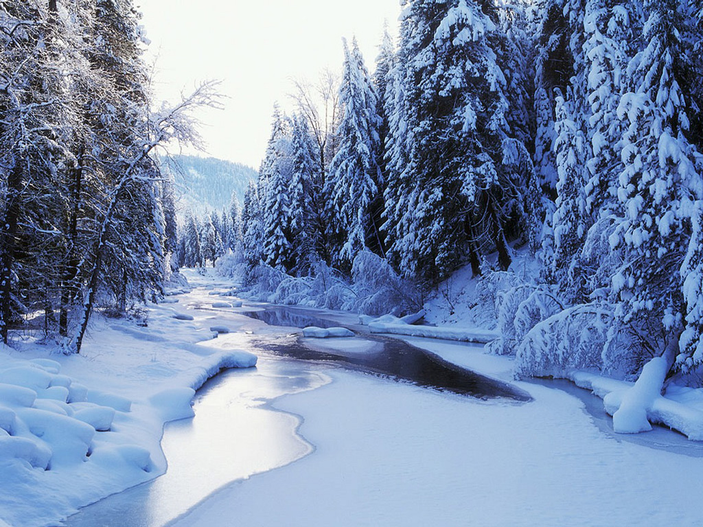 Winter images Wenatchee River HD wallpaper and background 1024x768