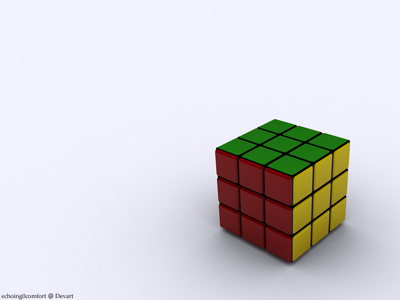 Rubiks Cube wallpaper render by echoing0comfort 800x600