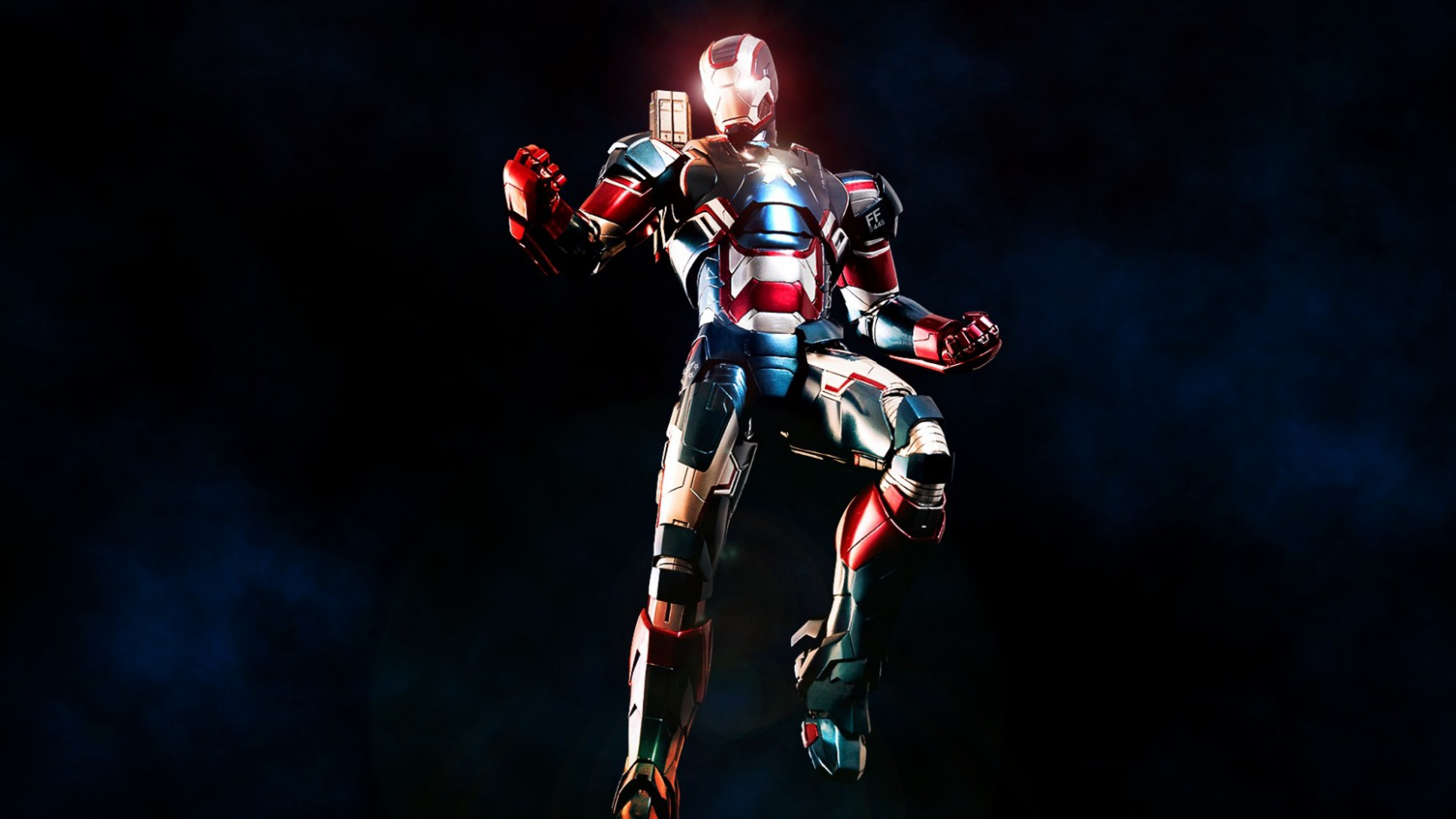 Download Wallpaper 3840x2160 Iron man Iron patriot Marvel comics 4K 3840x2160