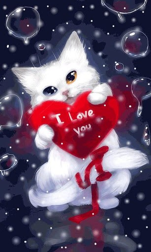 Free Download Download Love Cat Live Wallpapers For Android By Vivianlara Appszoom 307x512 For Your Desktop Mobile Tablet Explore 47 Live Love Wallpaper Live Laugh Love Wallpaper Border Free