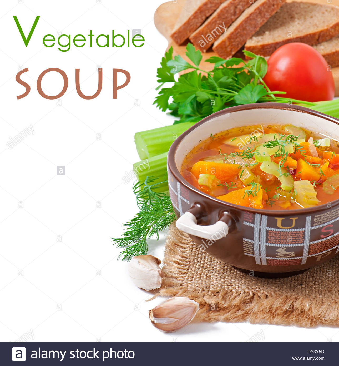 Vegetable soup isolated on white background Stock Photo 68313993 1289x1390