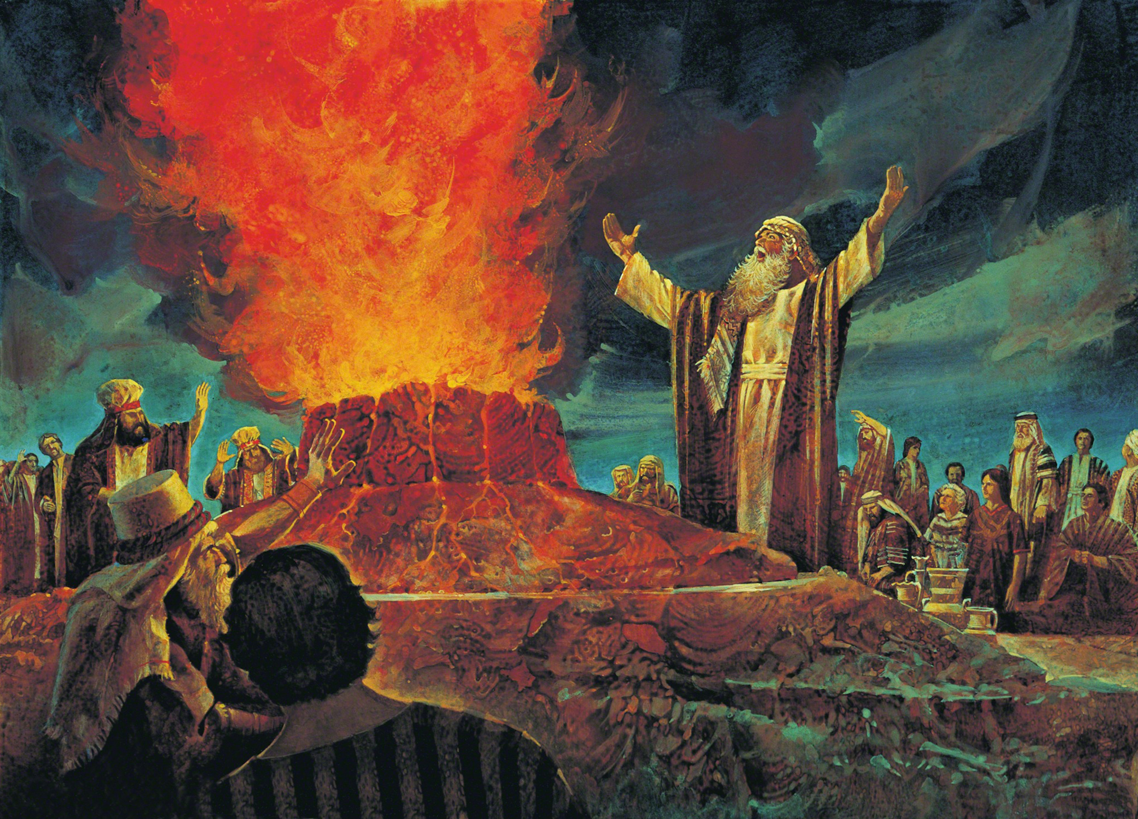 Elijah Contends against the Priests of Baal 2224x1600
