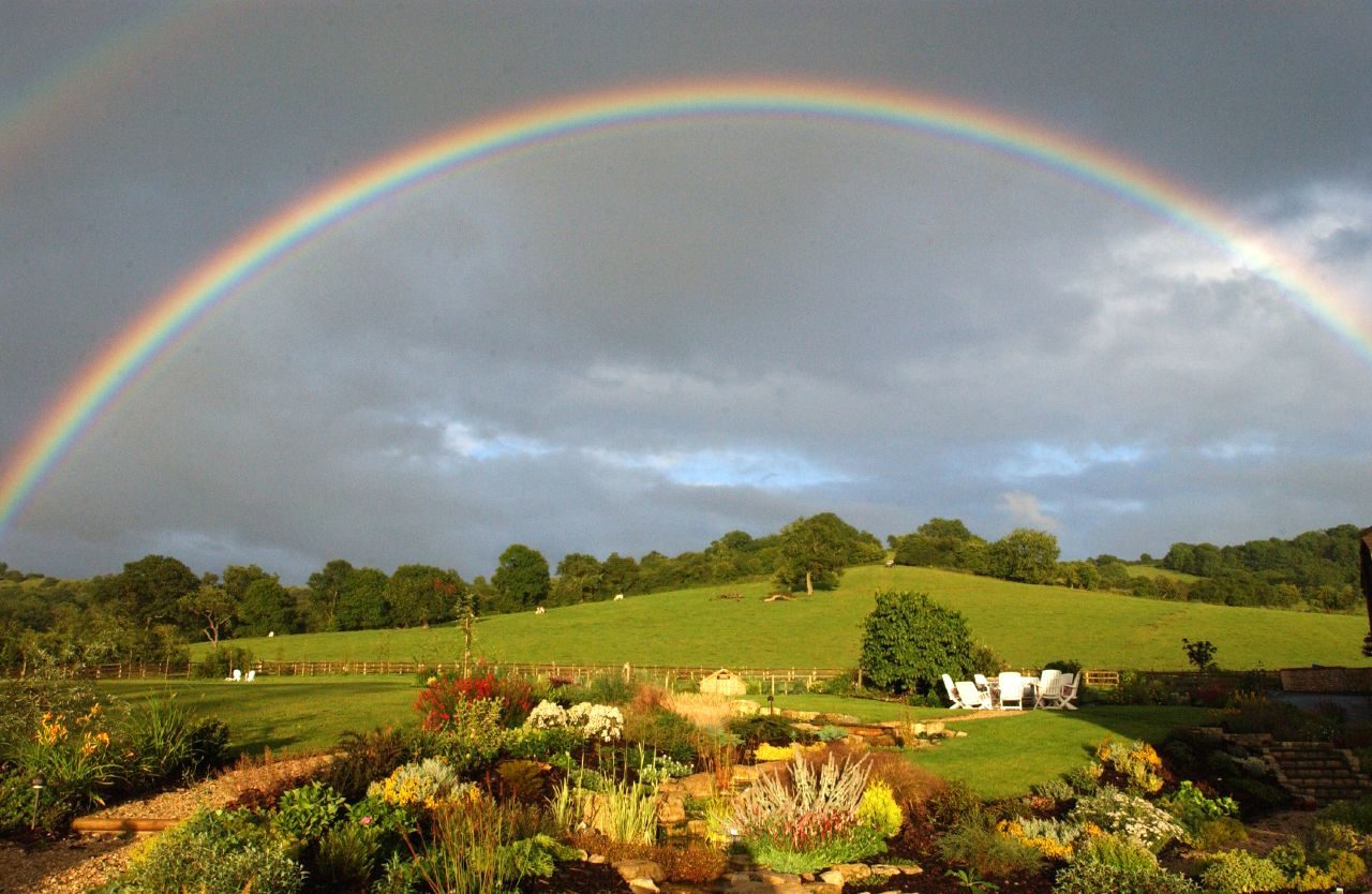 free wallpaper desktop wallpaper rainbow farmland mick yjpg 1280x834