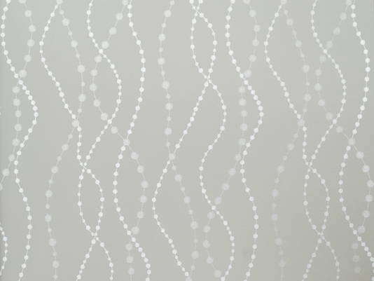Raindrops Wallpaper Pale grey wallpaper with wavy bead design in 534x401
