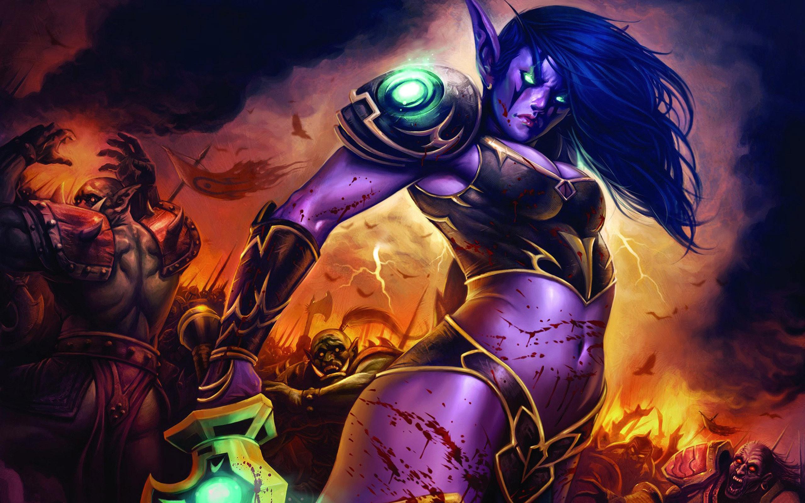 World of Warcraft   Night Elf desktop wallpaper 2560x1600