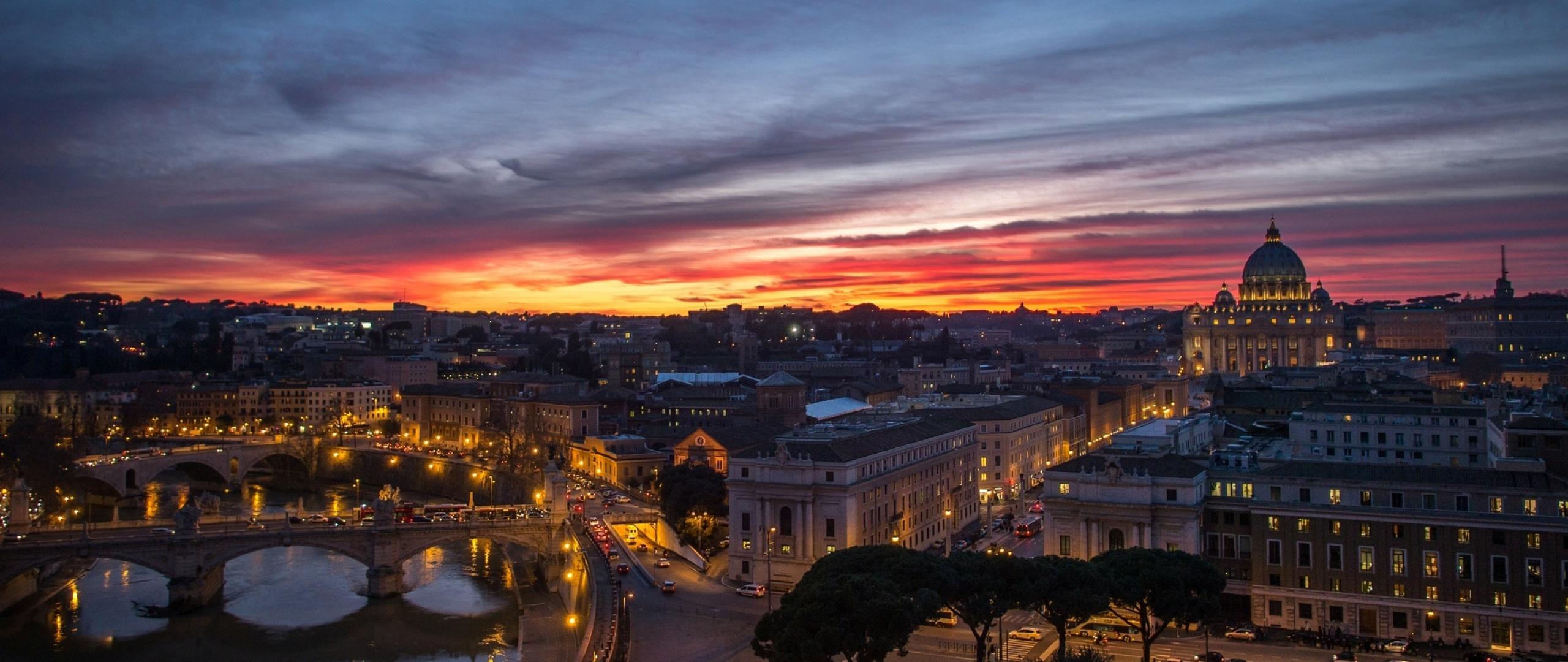 2560x1080 Wallpaper rome italy vatican city citta della stato 2560x1080