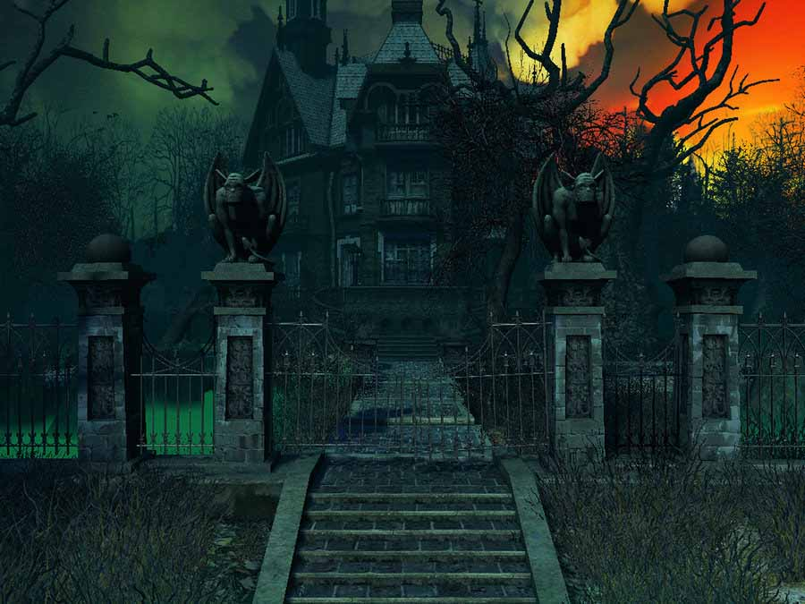 Free Animated Haunted House Wallpaper