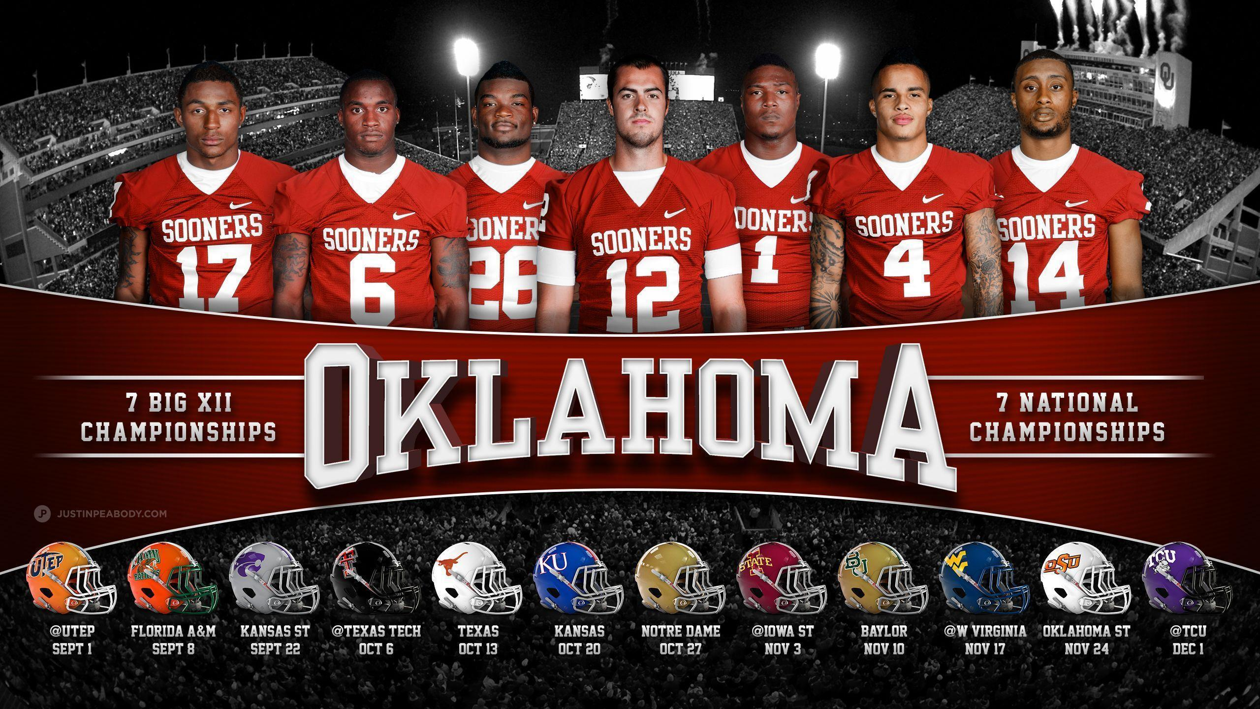 2016 Oklahoma University Football Schedule Wallpapers 2560x1440
