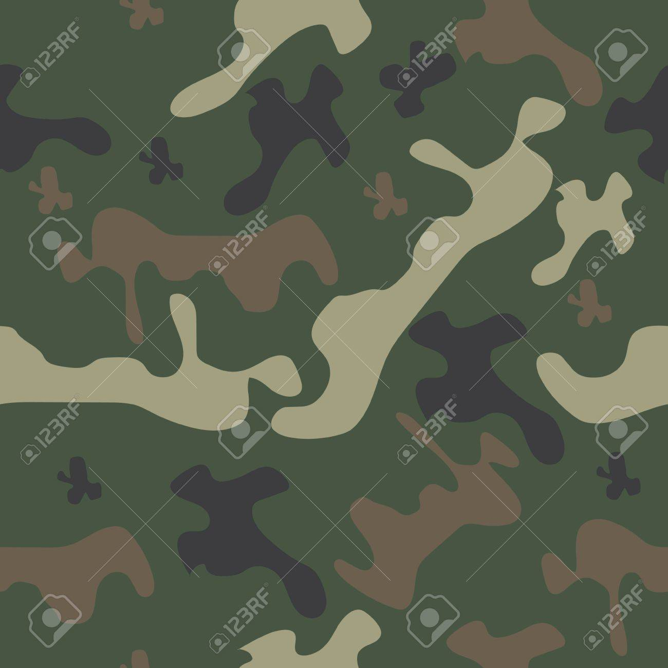 Camouflage Pattern Background Seamless Vector Illustration 1300x1300