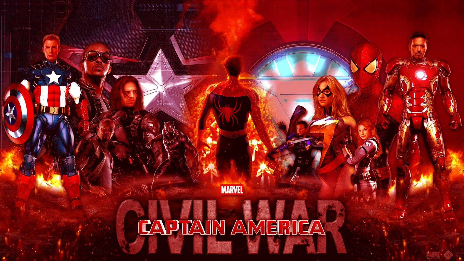 Captain AmericaCivil War Printable Coloring Pages Realistic 1600x900