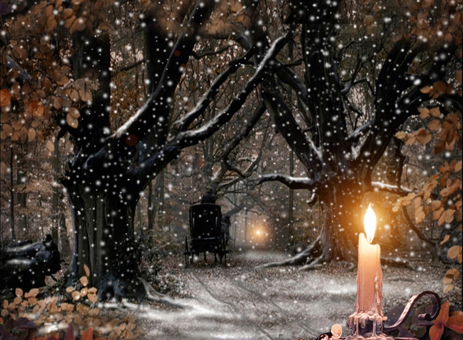 Christmas Wallpapers Christmas Snowfall Wallpapers 1600x1176