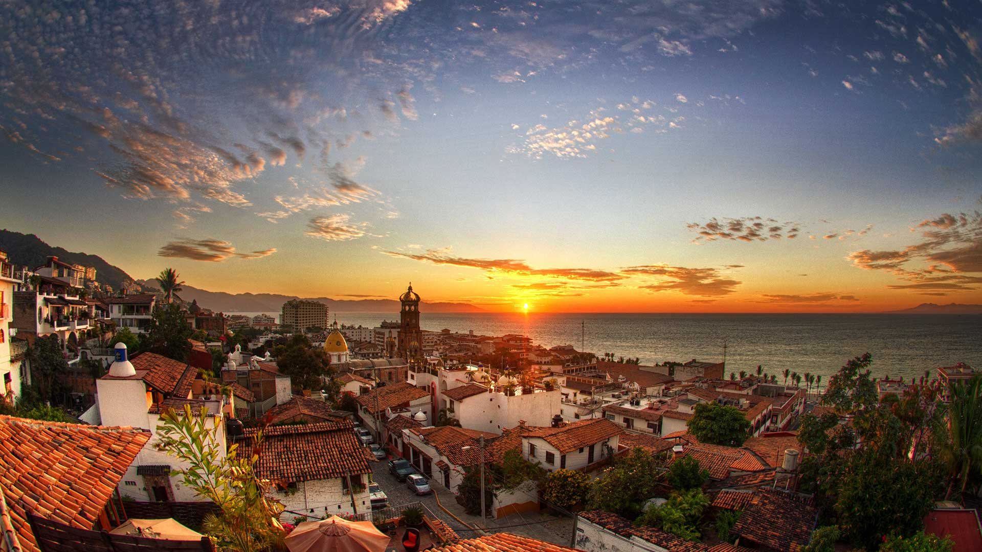 Puerto Vallarta Mexico City Wallpaper PNG Transparent best stock 1920x1080