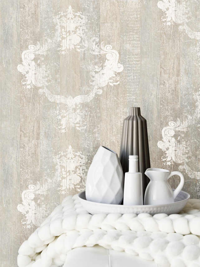 Overlay Wallpaper FauxWood fauxBois Damask Overlay Wallpaper 642x857