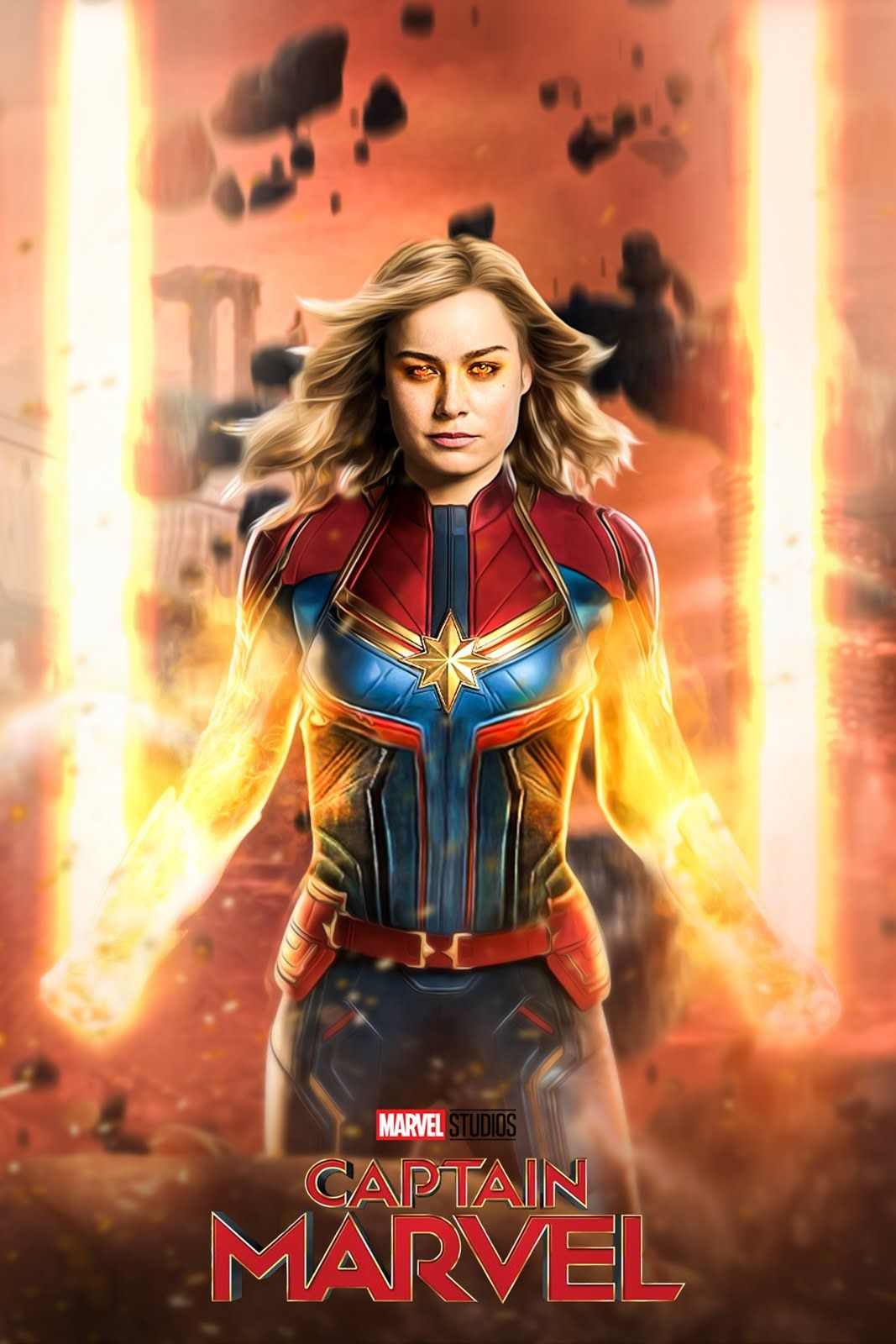 Captain Marvel HD Posters Wallpapers Photos and actress Brie 1067x1600