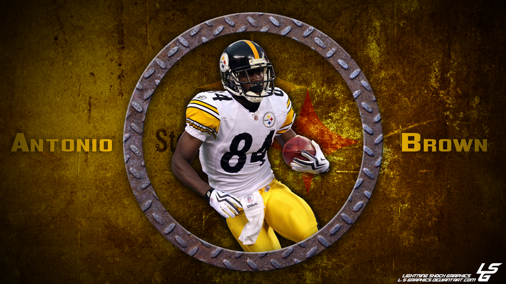 Antonio Brown Grunge Desktop Wallpaper by L S Graphics 1024x576