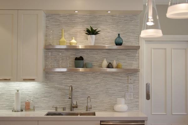 wallpaper backsplash in kitchen - backsplashes