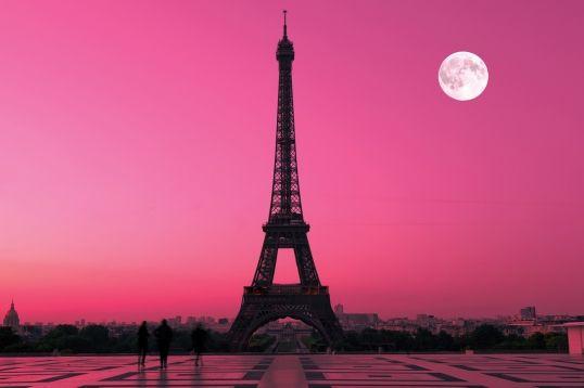 Paris Pink Sunset Wallpaper Mural Paris Bedroom Ideas Pinterest 538x358