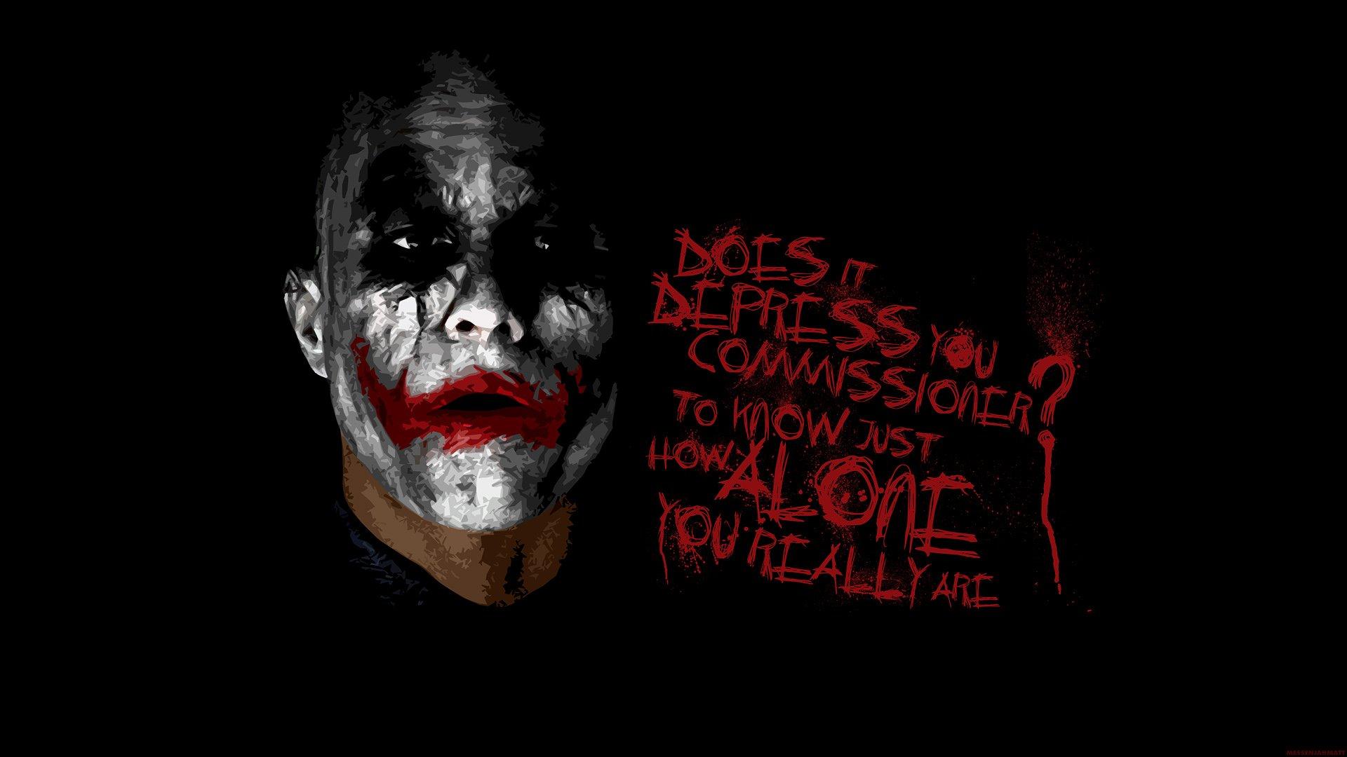Batman The Joker typography Heath Ledger The Dark Knight 1920x1080