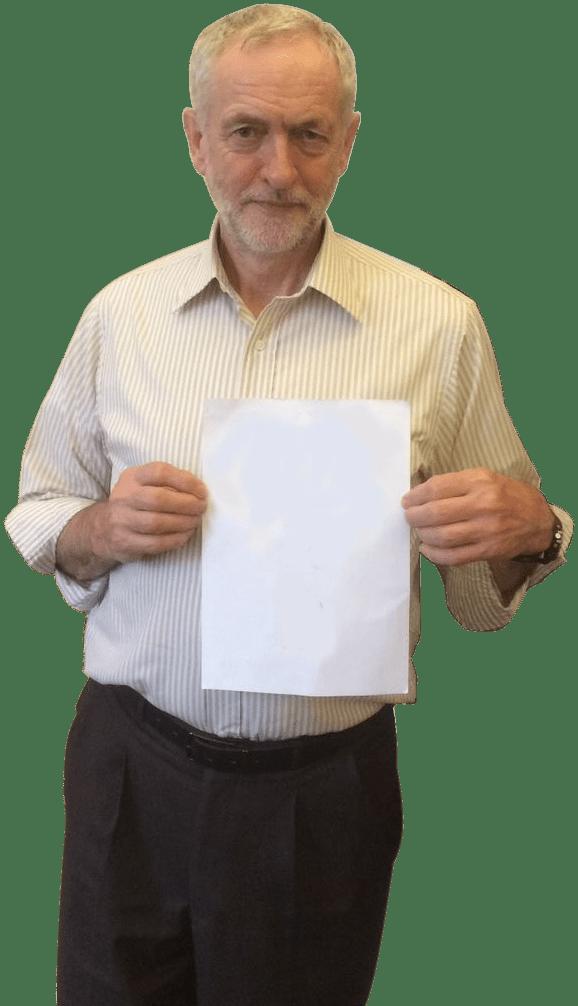 Jeremy Corbyn Holding Paper transparent PNG   StickPNG 578x1006
