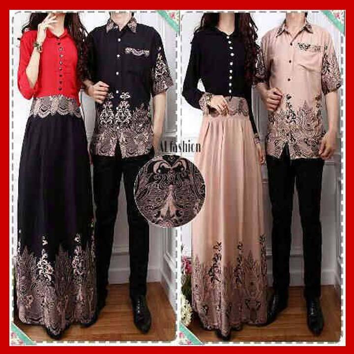 Baju Couple Muslim Batik Sarimbit 10