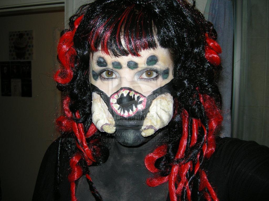Black widow spider make up by jjmuse121 1024x768