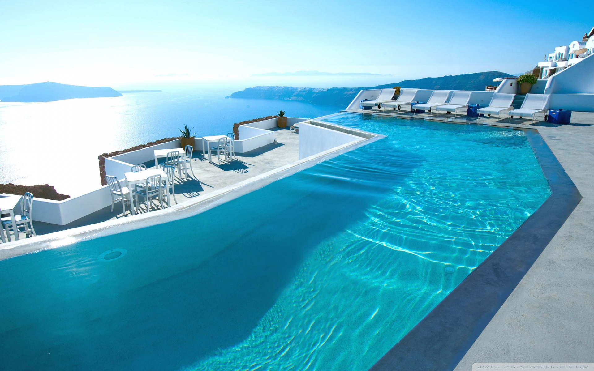 Santorini Hotel 4K HD Desktop Wallpaper for 4K Ultra HD TV 1920x1200