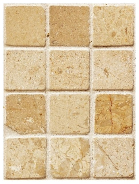 Tan Marble Tile Wallpaper   Traditional   Tile   other metro   by 484x640