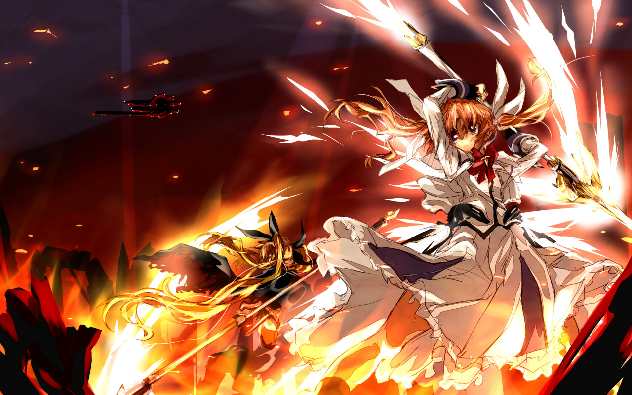 Magical Girl Lyrical Nanoha Wallpapers and Background Images 1280x800
