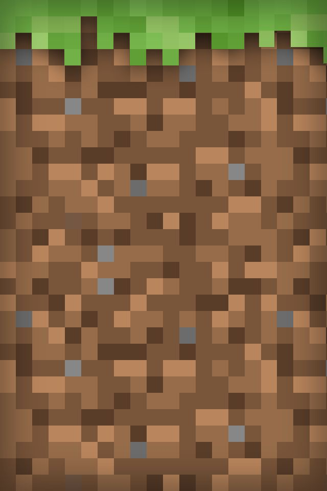Minecraft Grass Block iPod Wallpaper Minecraft Pinterest 640x960