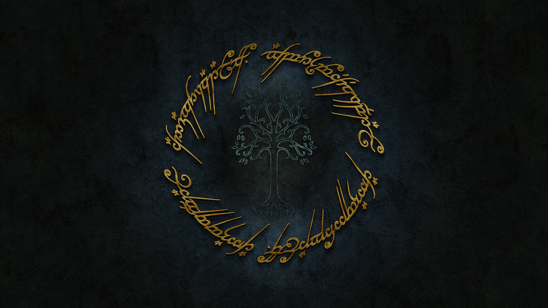 Lord Of The Rings Gold Logo HD Wallpapers 1920x1080