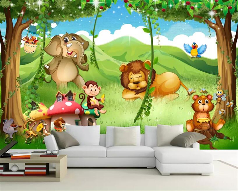 Beibehang Custom kindergarten background mural wallpaper fantasy 1000x800