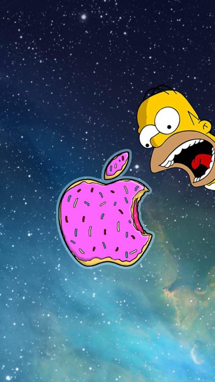 Biscotto a forma di logo Apple Homer Simpson con bocca aperta 700x1242