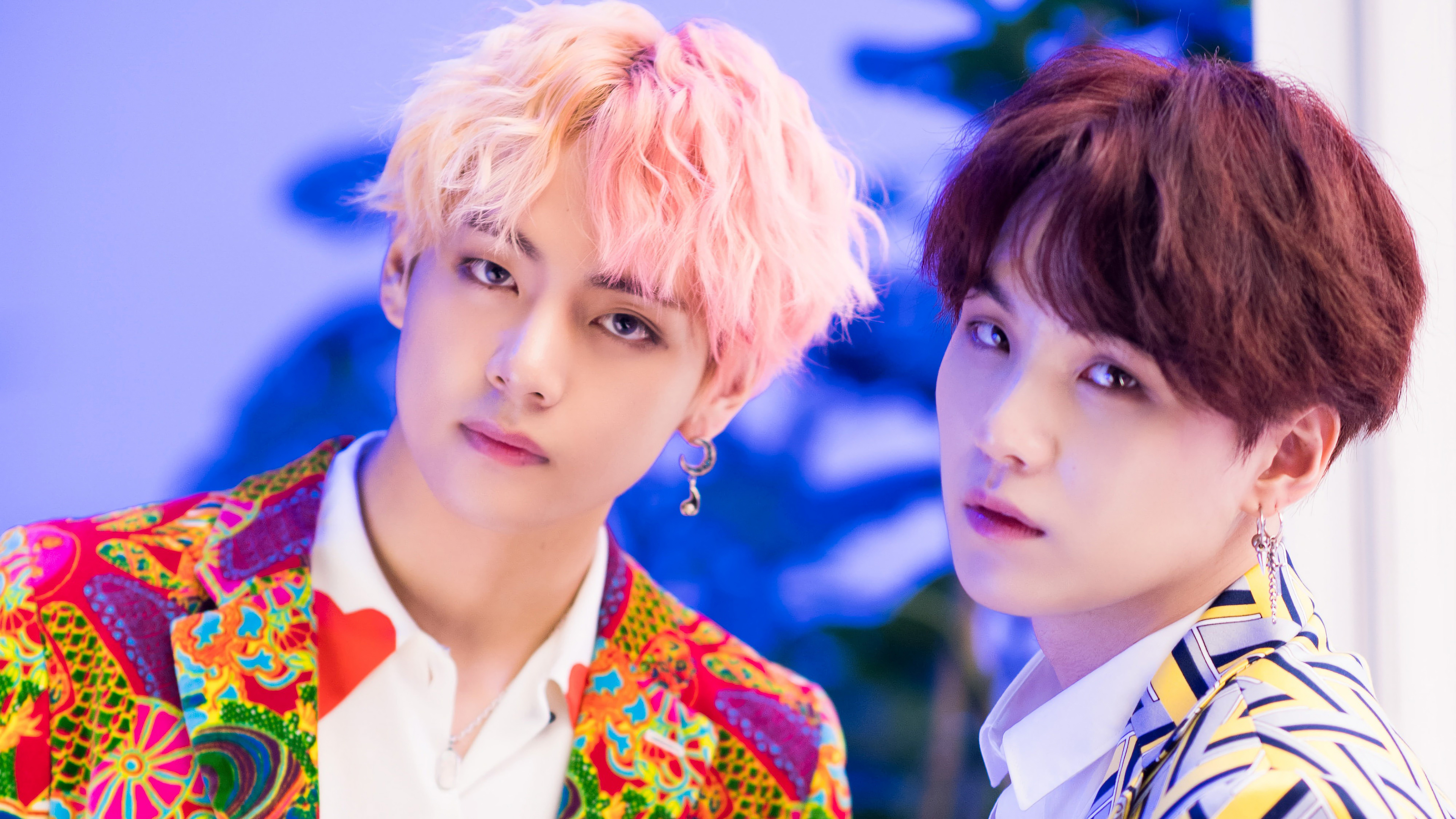 V and Suga BTS IDOL Bangtan Boys 4K 22926 3840x2160
