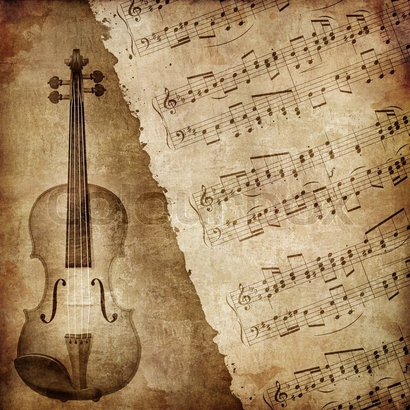 Textured Wallpaper on Of Old Paper Retro Music Texture Background With 800x800
