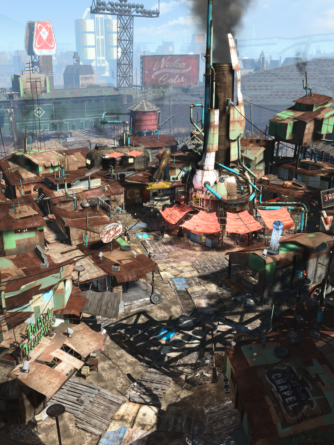 Diamond City   DET   Fallout 4 Fallout Fallout 4 wallpapers 1080x1440